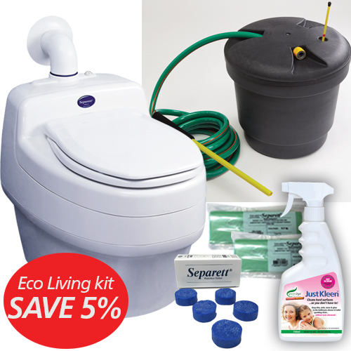 eco living 9011 package is an economical waterless toilet low energy use and compost ready